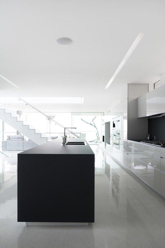 #danbrunn #flipflop #beachfront #residence #venice #california #glass #kitchen #stairs #windows #interior   Flip Flop Residence by DBArchitecture