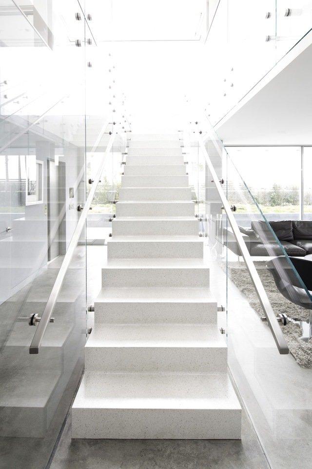 #danbrunn #flipflop #beachfront #residence #venice #california #glass #livingroom #stairs #windows #interior   Flip Flop Residence by DBArchitecture