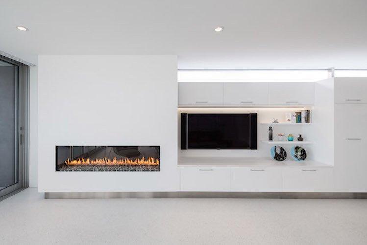 #danbrunn #zigzag #residence #beachfront #venice #california #livingroom #fireplace #interior  Zig Zag Residence by DBArchitecture