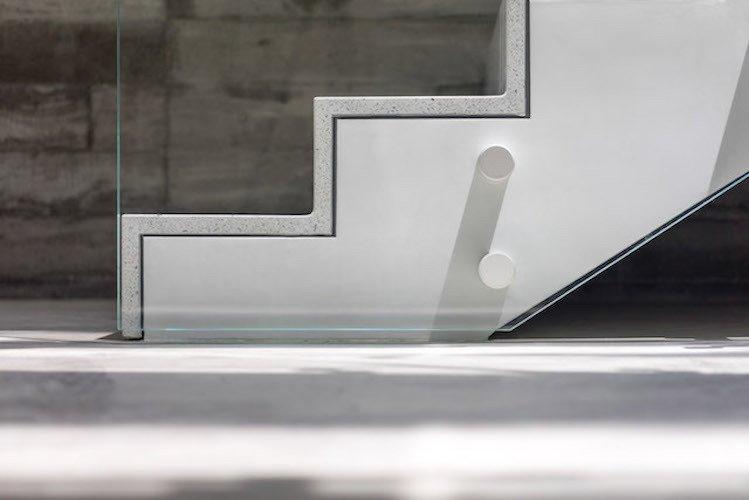 #danbrunn #zigzag #residence #beachfront #venice #california #glass #stairs #details #interior  Zig Zag Residence by DBArchitecture
