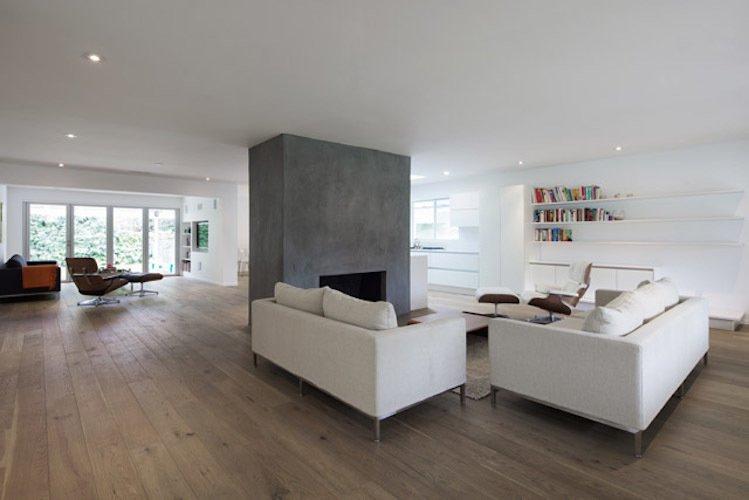 #danbrunn #hayvenhurst #residence #remodel #losangeles #california #glass #windows #fireplace #livingroom #woodfloors #interior  Hayvenhurst Remodel