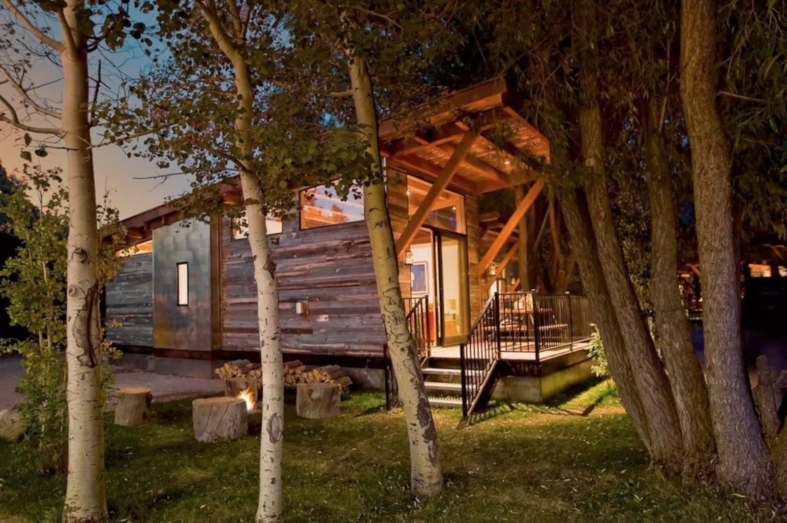Jackson Hole Modern Rustic Cabin Wilson, WY, United States  Modern rustic luxury in the heart of Jackson Hole. Located just minutes from Jackson Hole Mountain Resort ski area and the majestic Grand Teton National Park. Only 7 miles from the Jackson Town Square. Sustainably built; LEED certified.  https://www.airbnb.com/rooms/4794644  Cabins & Hideouts from Great Airbnbs
