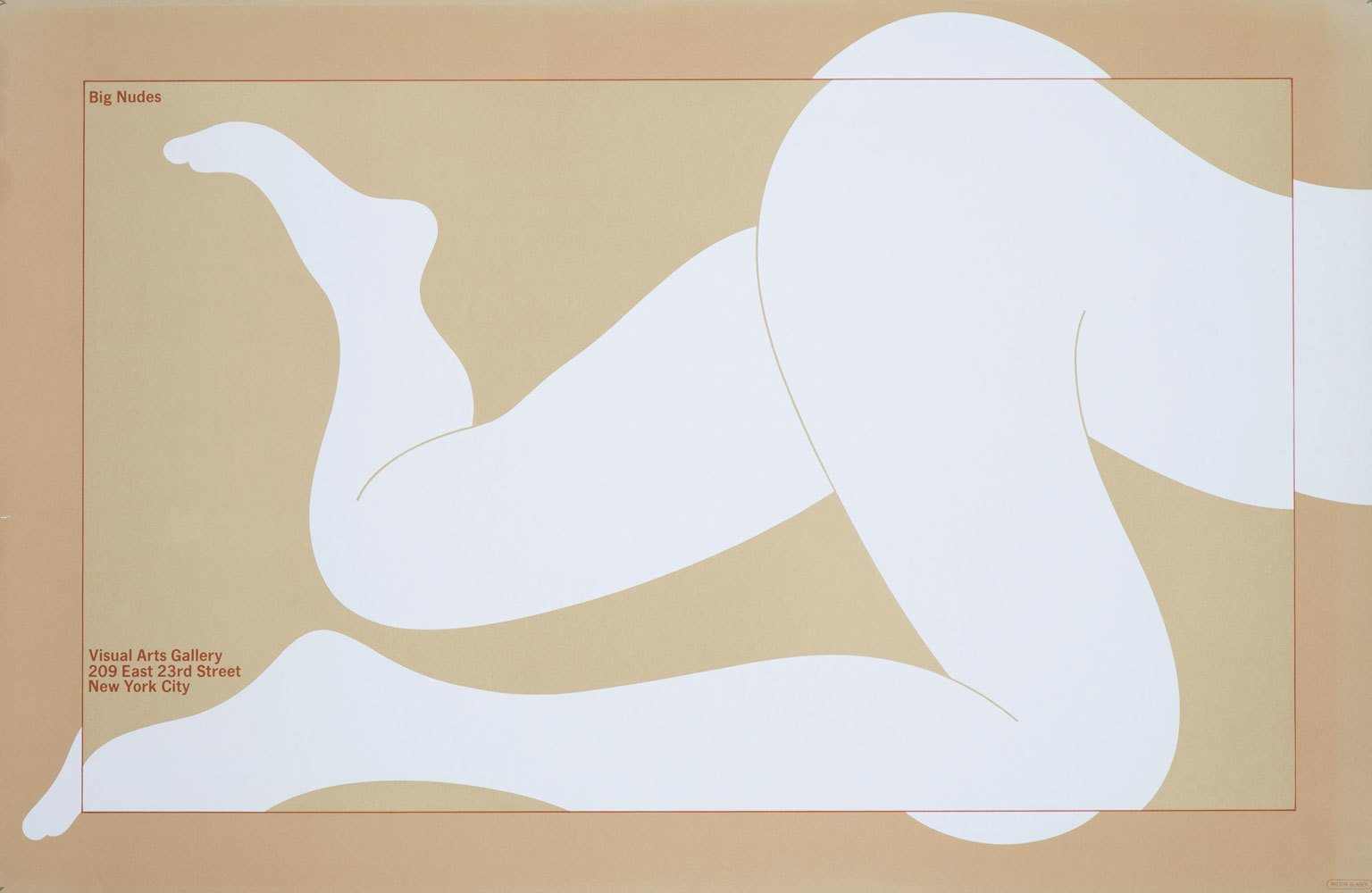 Milton Glaser, Big Nudes poster (1967/8)  Graphic Design and Illustration