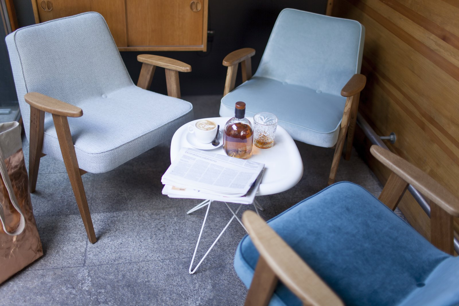 An instant success upon its 1962 release, Chierowski's 366 Easy Chair was a staple seen in homes, cafes, offices, and restaurants throughout the Eastern Bloc for nearly three decades.  100+ Best Modern Seating Designs from A Look At Józef Chierowski, the Polish Midcentury Design Icon You've Probably Never Heard Of
