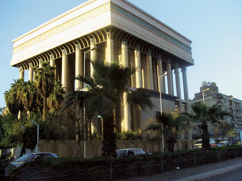 "Adjaye on this civic structure in Cairo, Egypt:  ""The old city, with its ramparts, narrow lanes and Moorish architecture, has a particularly intimate character. Recent public buildings are postmodern in style, with Arabic motifs. Many public buildings from the colonial period have been converted to cultural uses, such as the Museum of Egyptian Antiquities.""   David Adjaye's African Architecture Photo Survey"