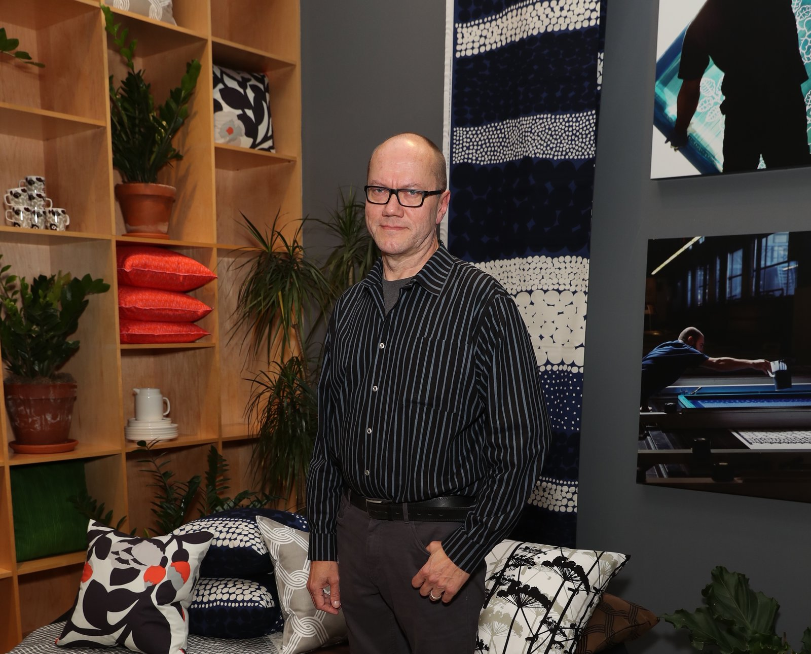 Petri Juslin, Marimekko's studio artwork director since 1986.  Photo 7 of 7 in For Marimekko's  Artwork Studio Manager,  Print's Not Dead