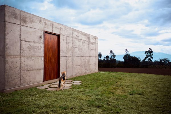 Named after the rural Ecuadorean parish in which it's located, the El Quinche House, designed by Felipe Escudero, sits in a valley in the Andes, with stunning views of the mountainside.