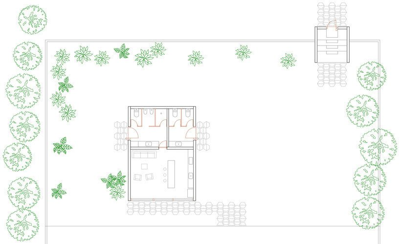 """A view of the site plan, surrounded by a series of gardens. As Escudero says, """"All window openings were carefully chosen to frame the most beautiful parts of the surroundings.""""  Photo 6 of 6 in With a View of the Andes, This Concrete Retreat in Ecuador Follows the Sun"""