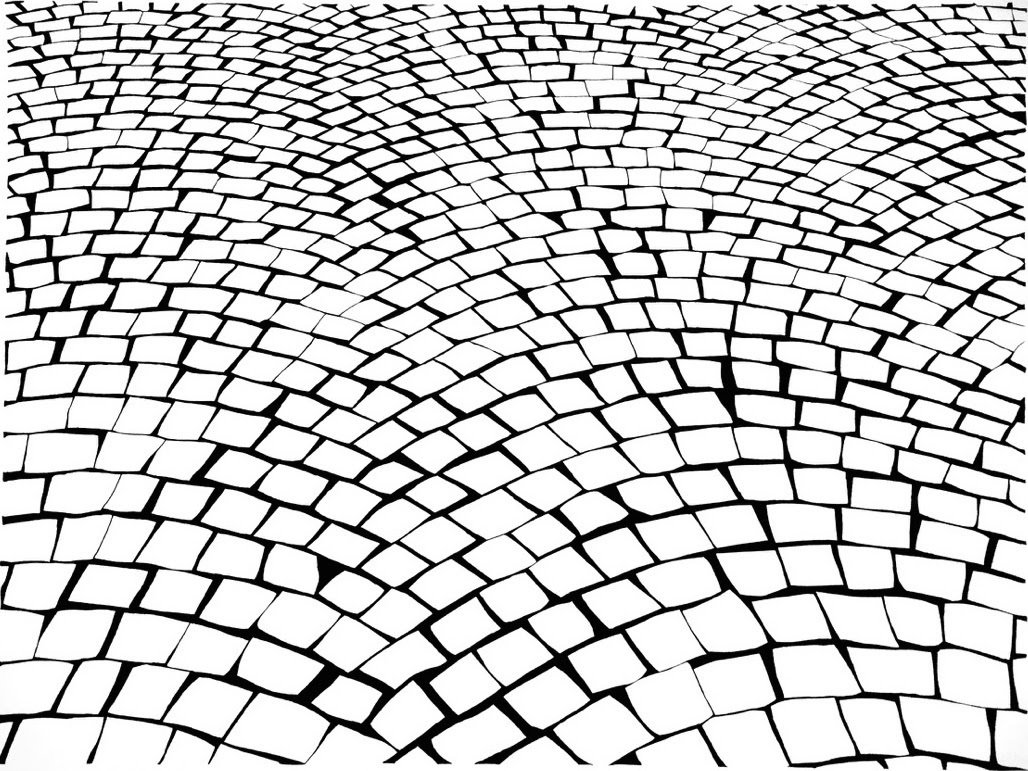 """Artist Alexis Dahan opens a new solo exhibition next month at New York's Coburn Projects gallery. The show will feature a series of his charcoal drawings of cobblestone streets from around the world. Seeking to """"represent the road as an object in itself by removing the destination,"""" says the artist, """"these paths have no beginning and no end.""""  From the Editors' Inbox: October 2016"""