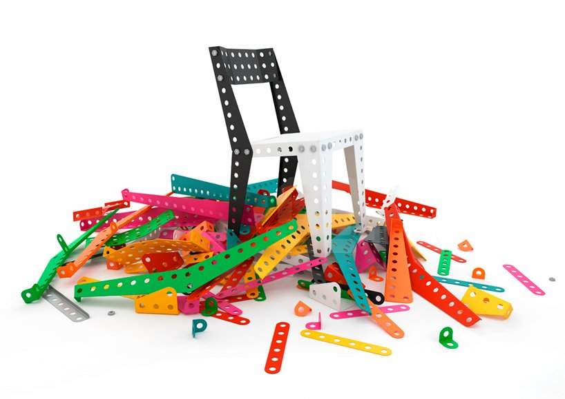 Meccano Home, a furniture collection created by France's answer to the Erector set  Shape-Shifters: Modular Furniture