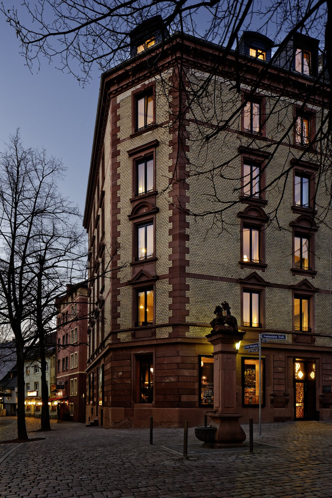Franken Architekten renovated the historic Wilhelminian building in the Alt Sachsenhausen district.  Photo 8 of 8 in Inspired by the Sharing Economy, This Frankfurt Hotel Feels Just Like Home