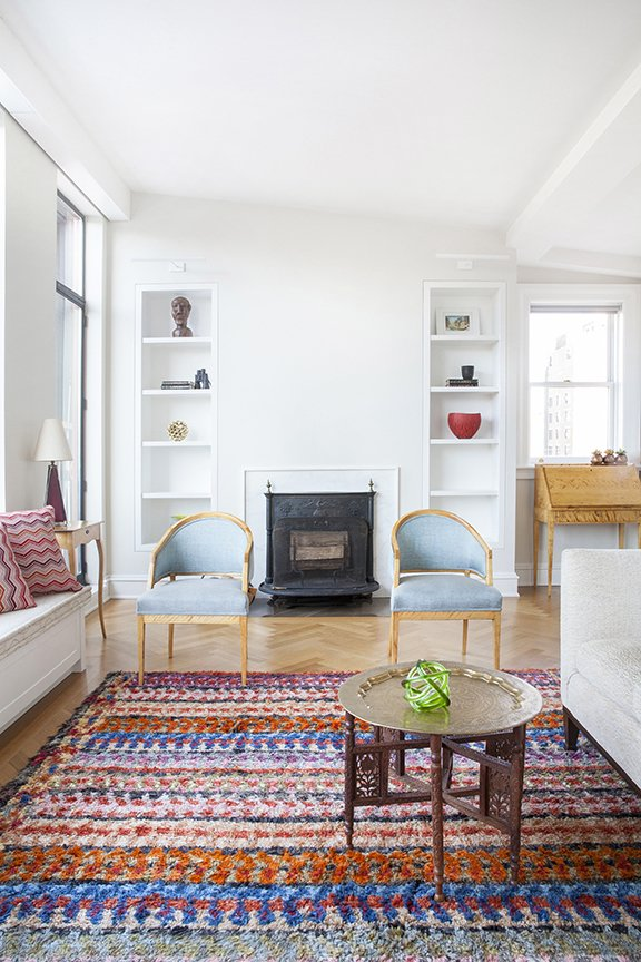 This bright and airy West Village duplex was renovated by Fogarty Finger for a family who moved from just three floors below. The apartment had been previously occupied by the same resident for 50 years. A Moroccan theme now runs through the home.  Photo by Howie Guja Styling by Gorilla Styling  Colorful Intentions from West Village Duplex Renovation