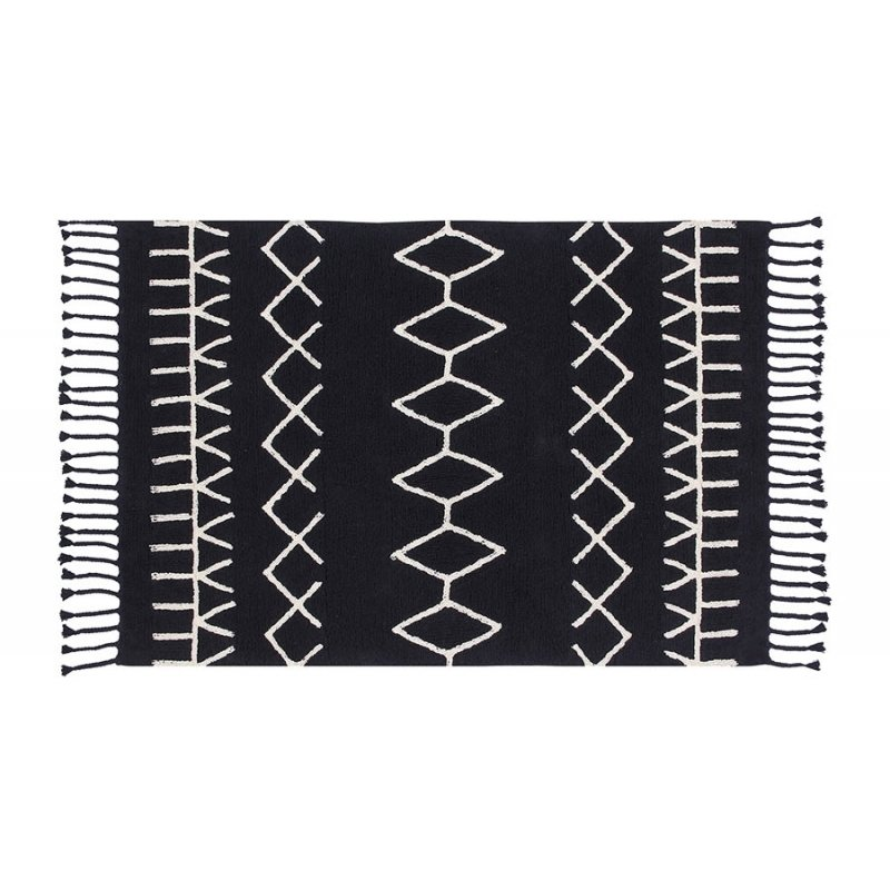 "Lorena Canals's rugs are soft underfoot—and machine washable. I love the graphic lines of the brand's new black-and-white collection.  lorenacanals.us  Search ""blackandwhite"" from A Few of My Favorite Things..."