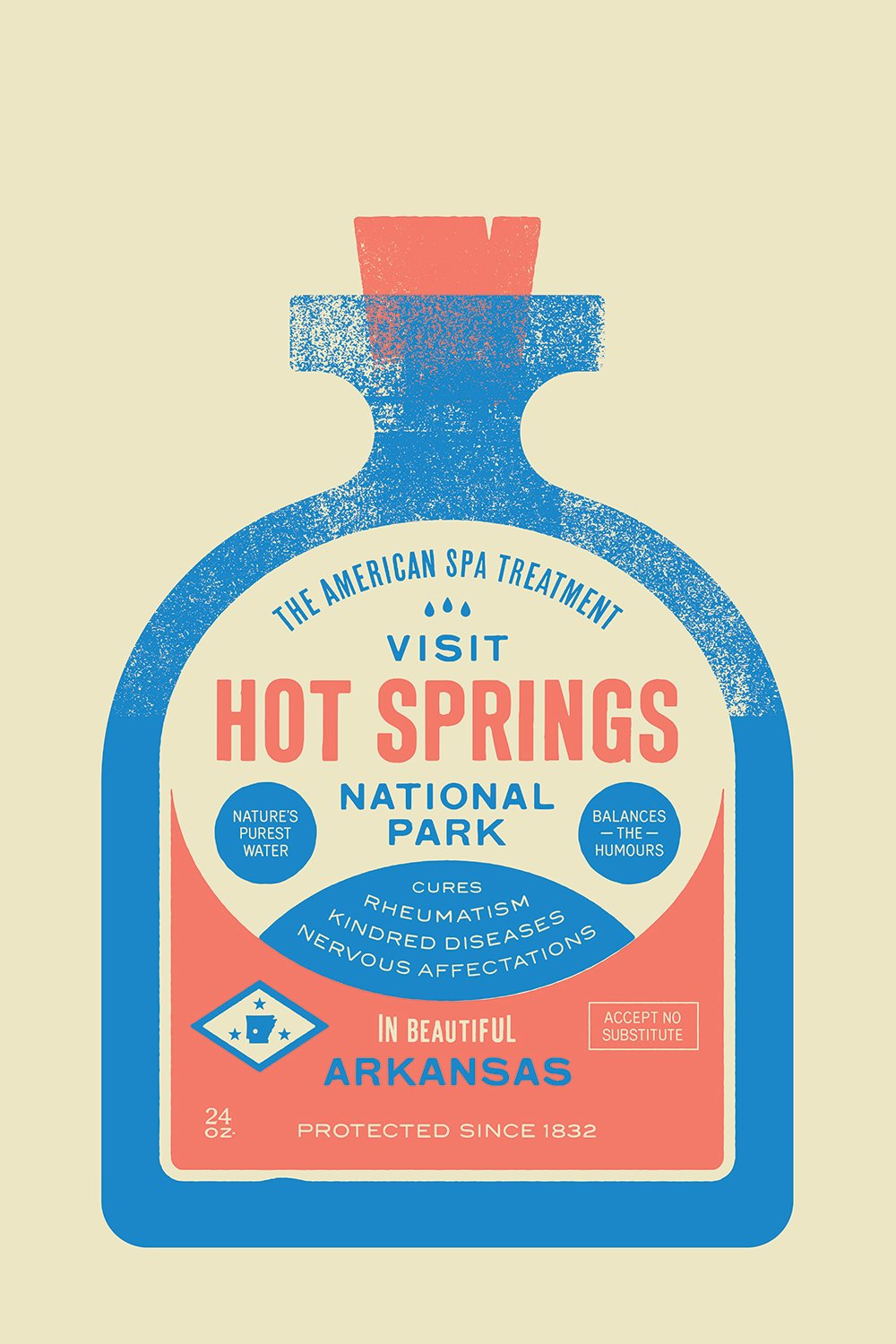Hot Springs National Park designed by Bryan Butler  With Type Hike, 59 Graphic Designers Celebrate the National Park Service Centennial