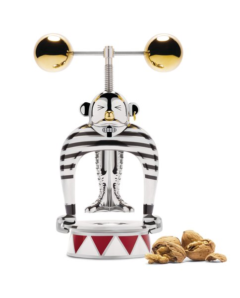 Just in time for holiday gifting, Alessi has announced a playful new collection by Marcel Wanders. Alessi Circus includes a range of tabletop items inspired by the big top. The collection ranges from plates and candy dishes to five limited-edition showpieces through the Officina Alessi label, including the Strongman nutcracker seen here.