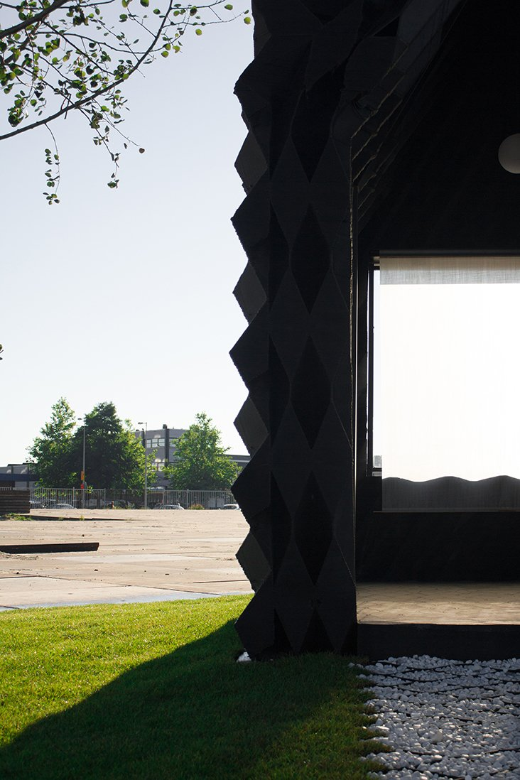 The architects see 3D printing as a way to address housing shortages and to provide emergency housing in case of emergency.  Photo: DUS Architects  Photo 3 of 19 in Stay in This 3D-Printed Tiny House from Book a Stay in This 3D-Printed Tiny House