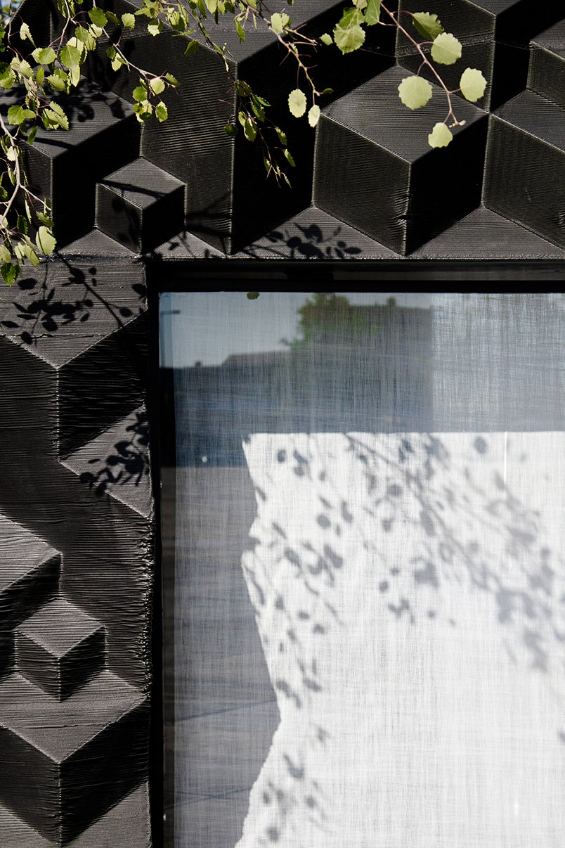 The textured surface reveals the 3D-printing technique.  Photo: DUS Architects  Photo 13 of 19 in Stay in This 3D-Printed Tiny House from Book a Stay in This 3D-Printed Tiny House