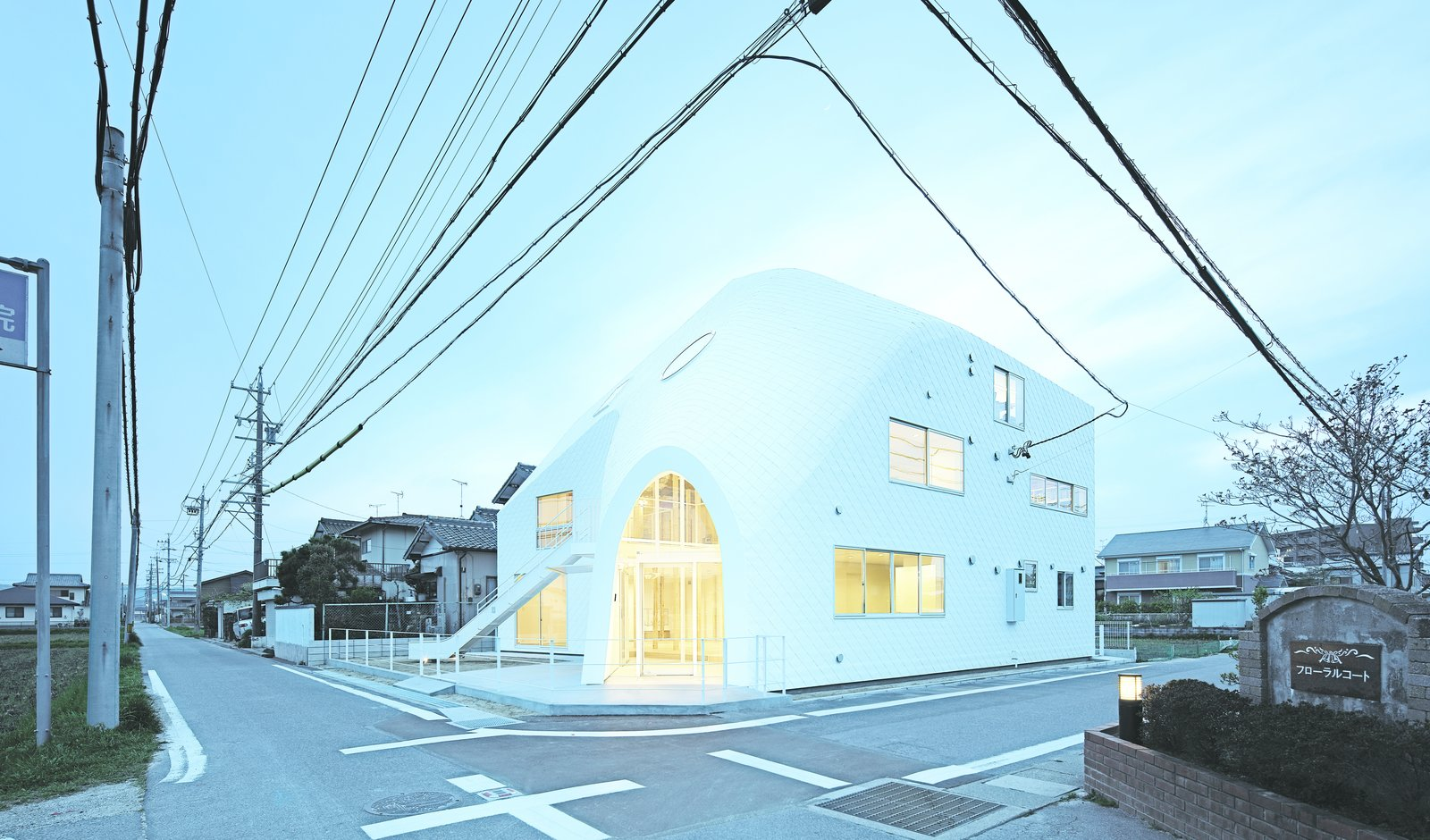 A kindergarten Okazaki, Japan, Clover House is named for its previous life. Originally a 1,100-square-foot residence in a traditional Japanese style, the structure was transformed by MAD Architects in a sculptural example of adaptive reuse wrapped in asphalt shingles. The windows were oriented to bring sunlight and shadow into the space in dynamic ways.  Picture by Koji Fuji   Discover the Fantastical Future Vision of a Beijing Architect