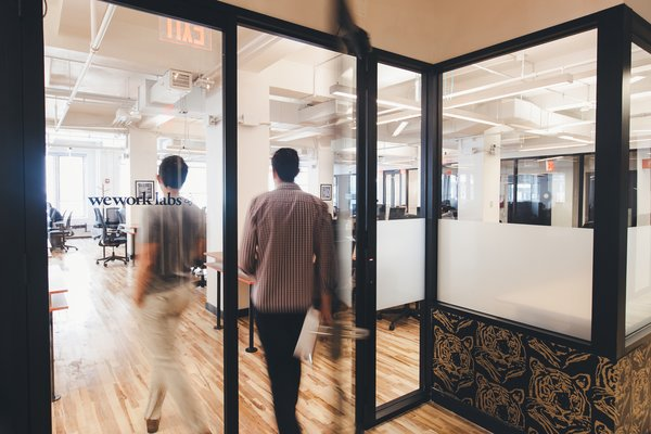 Though each WeWork location is unique, the design team has developed a storefront system for offices and conference rooms that can easily be fabricated to fit any space.  Photo 2 of 4 in Inside WeWork's Data-Driven Design Process
