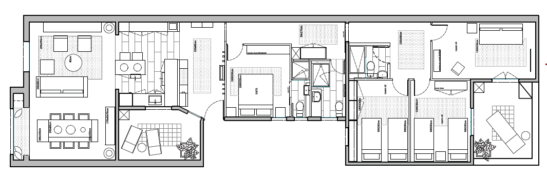 The apartment's floor plan.  Photo 9 of 9 in A Barcelona Apartment Gets a Softly Modern Renovation