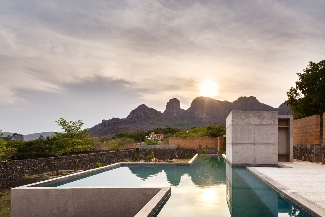 Outdoor, Large Pools, Tubs, Shower, Swimming Pools, Tubs, Shower, and Concrete Pools, Tubs, Shower The modern house responds to the local landscape in an exciting new way.  Photo 8 of 8 in An Eco-Friendly Getaway Built With the Future in Mind