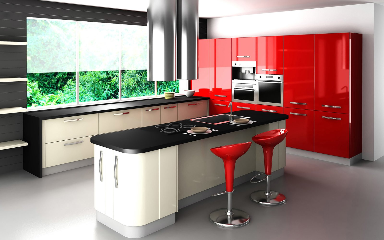 Kitchen and Colorful Cabinet All about #red  Photo 16 of 21 in Red, Red, and More Red! 20 Bold Interiors That Make a Statement