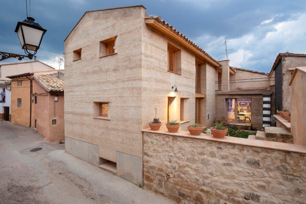 The house is one of 40 finalists for the TERRA Award, an international prize for earthen homes, which will be announced on July 14.  Photo 5 of 5 in An Ancient Building Technique Readies a Spanish Farmhouse for the Future
