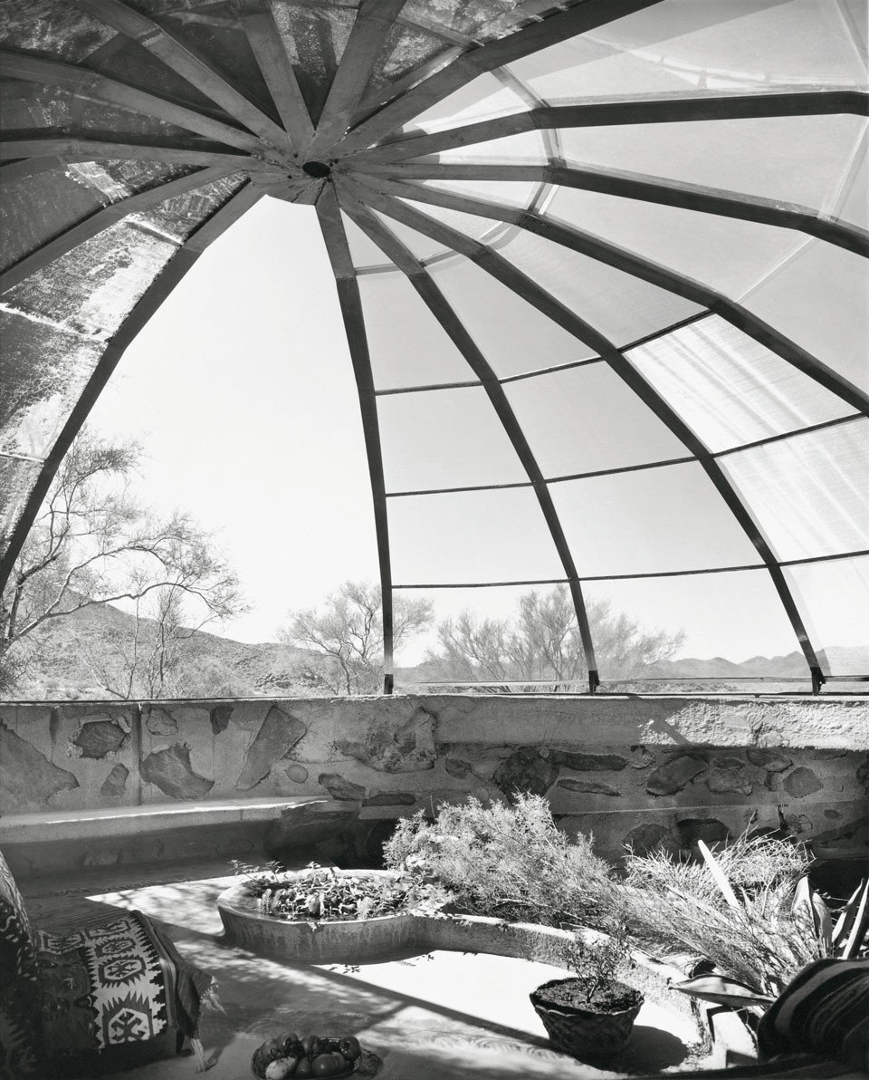 """Woods Residence (""""The Dome House"""") by Soleri & Mills, Cave Creek, Arizona (1950)  Bask in the Retro Glow of Photos from Postwar SoCal (and Beyond)"""
