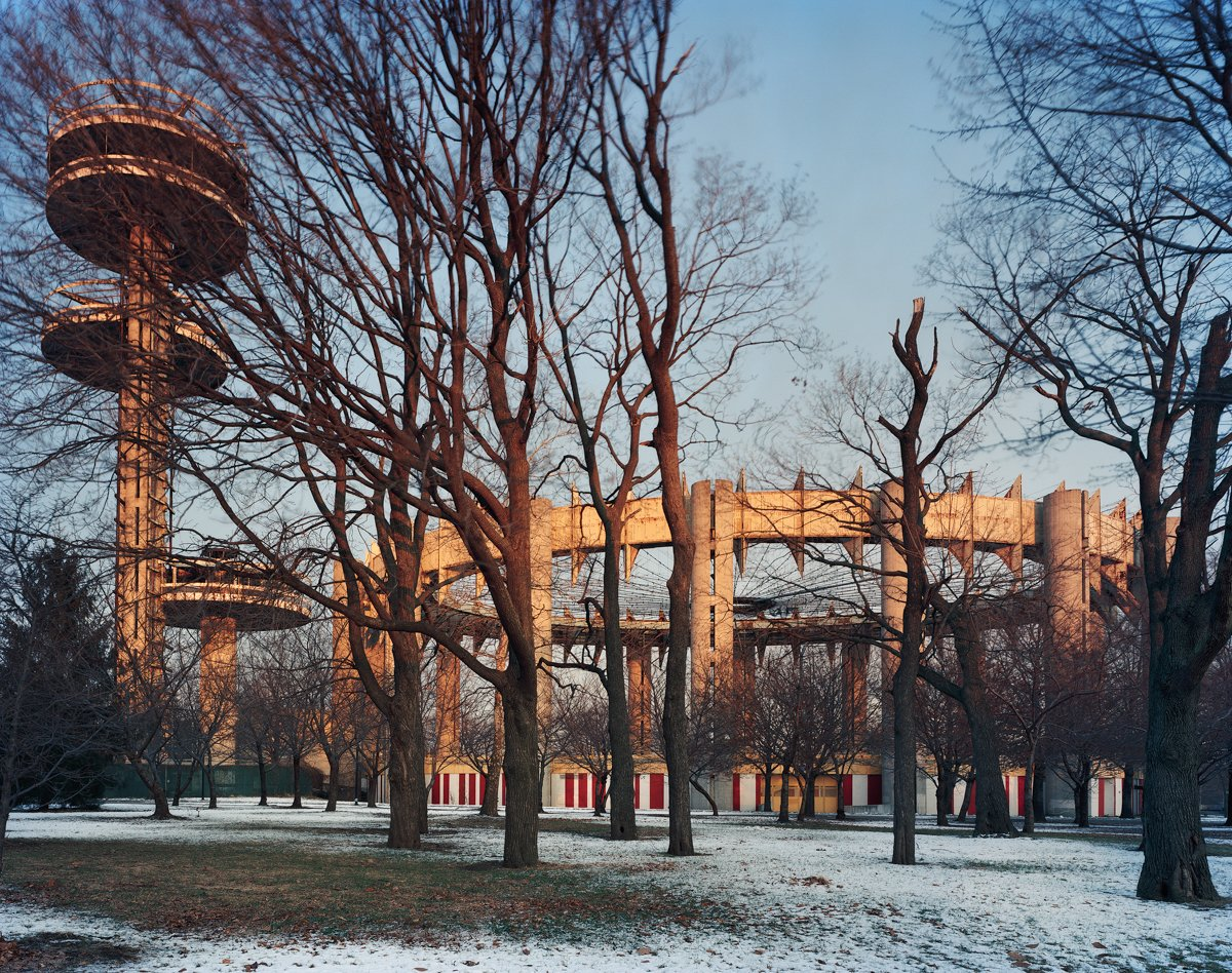 New York 1964 World's Fair, Peace Through Understanding, New York State Pavilion, Winter View, 2014. Photo by Jade Doskow  8 Otherworldly Photos of What the Future Was Supposed to Look Like