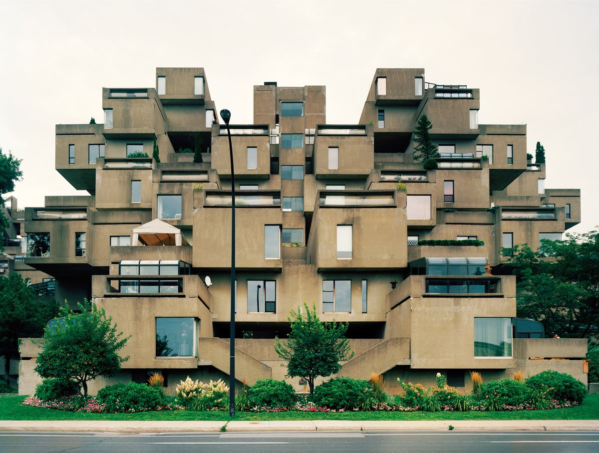 Montreal 1967 World's Fair, Man and His World, Habitat '67, Day View, 2012. Photo by Jade Doskow  8 Otherworldly Photos of What the Future Was Supposed to Look Like