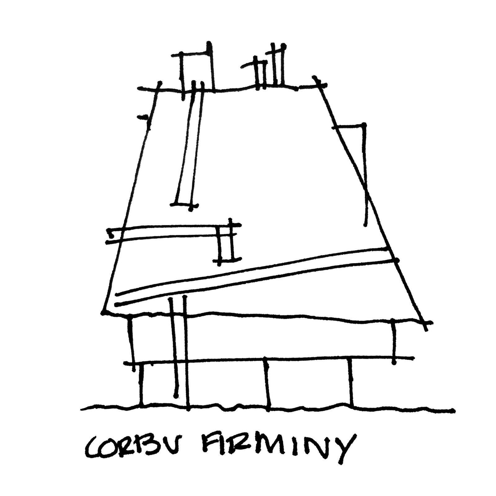 Church at Firminy by Le Corbusier.  Photo 2 of 7 in Napkin Sketches