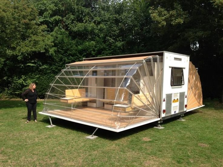 """Eduard Bohtlingk, a Dutch designer and architect, designed this """"urban camper,"""" called the Markies (that's 'Marquis' in English) that was featured as part of the Urban Campsite art installation in Amsterdam. People were invited to stay in the artist-designed structures within city limits.  Off the grid from Camping"""
