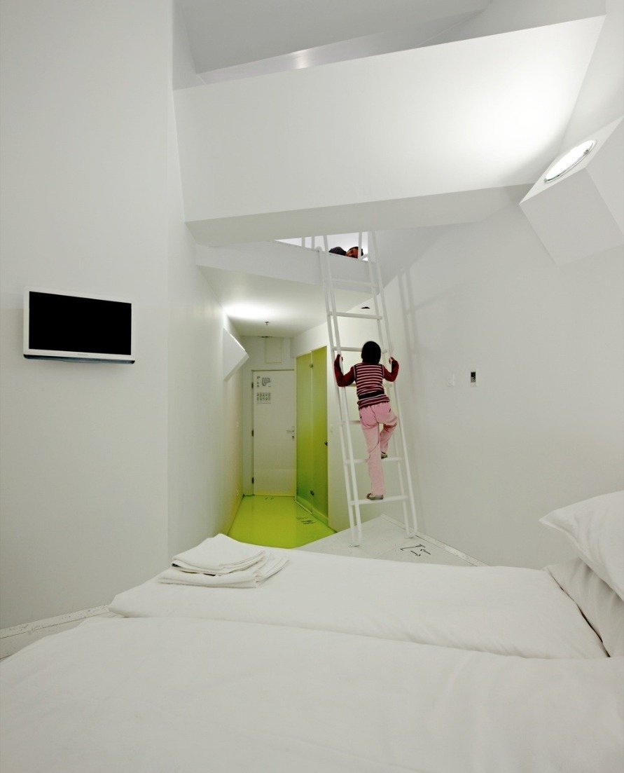"""Hostel Golly±Bossy / Studio Up / Croatia The """"Savo"""" building, located in the Split city center core, was a shopping mall but, in 2010 was transformed into a hostel in 100 days.  Way-Finding Systems"""
