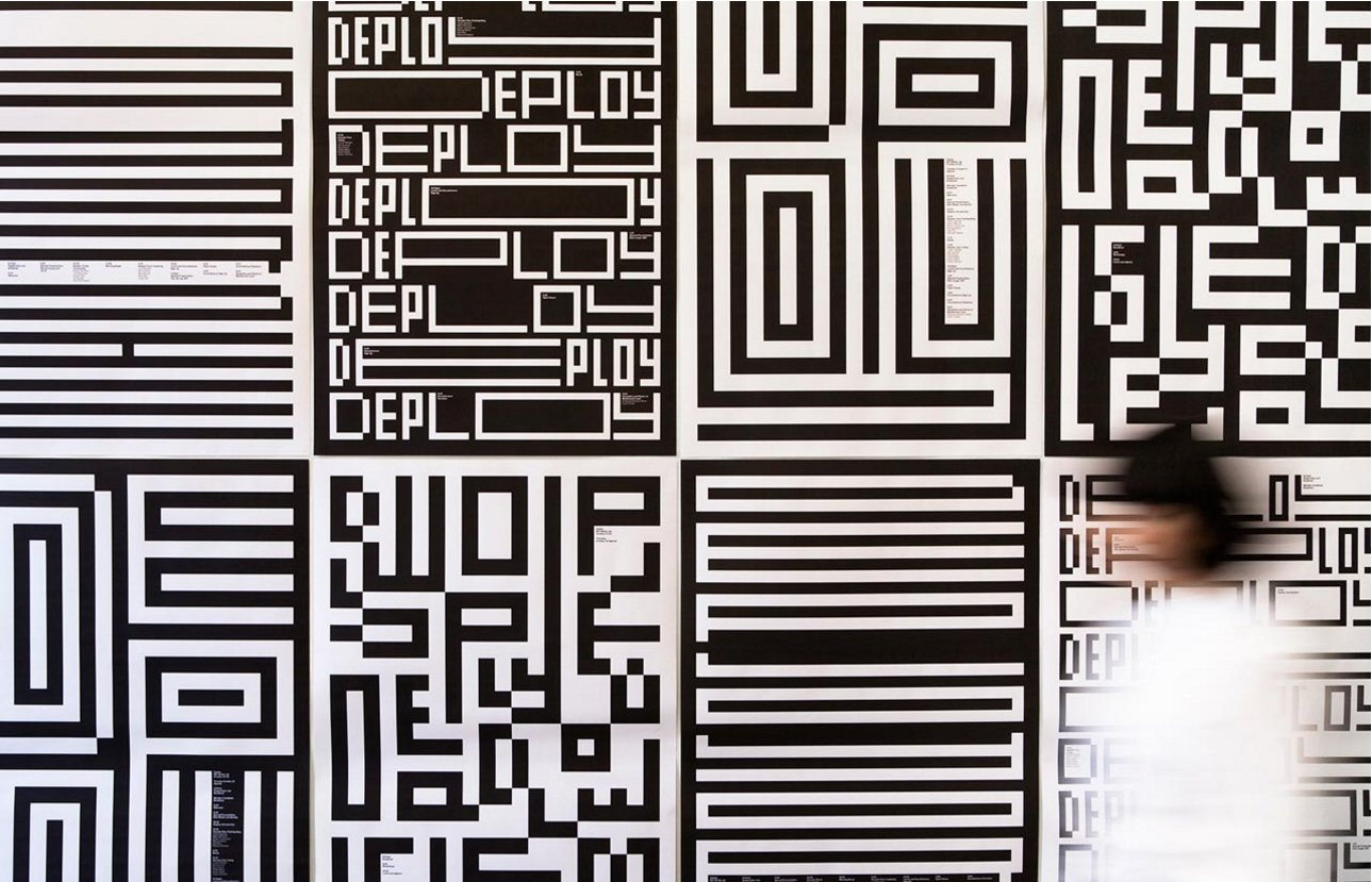 MIT Media Lab. Visual identity for the innovative, interdisciplinary research laboratory at the Massachusetts Institute of Technology.  Way-Finding Systems
