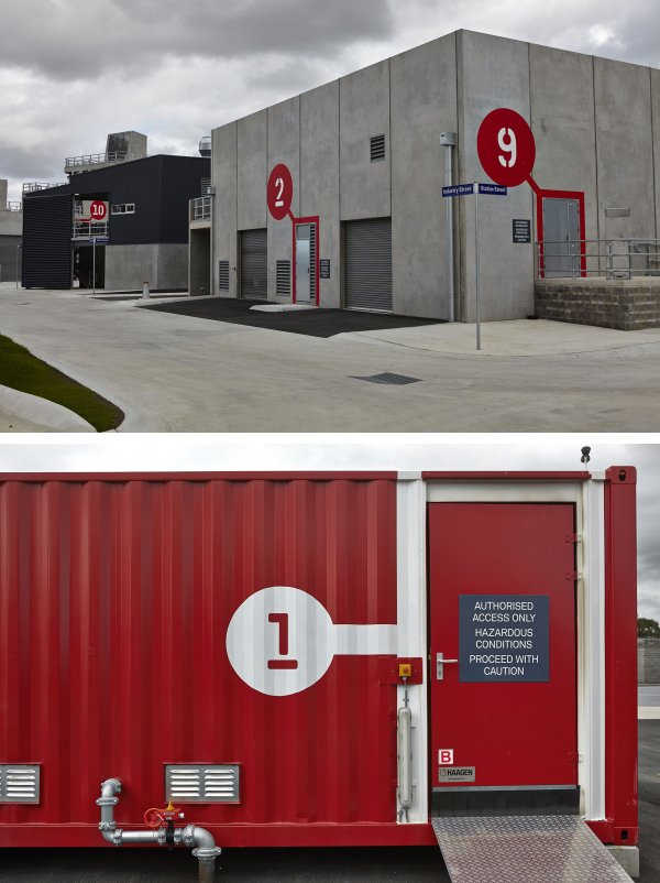 Metropolitan Fire Brigade in conjunction with Melbourne Parks Victoria, developed a new purpose built, contemporary 'Center of Excellence' for training and development of its operational workforce  Way-Finding Systems