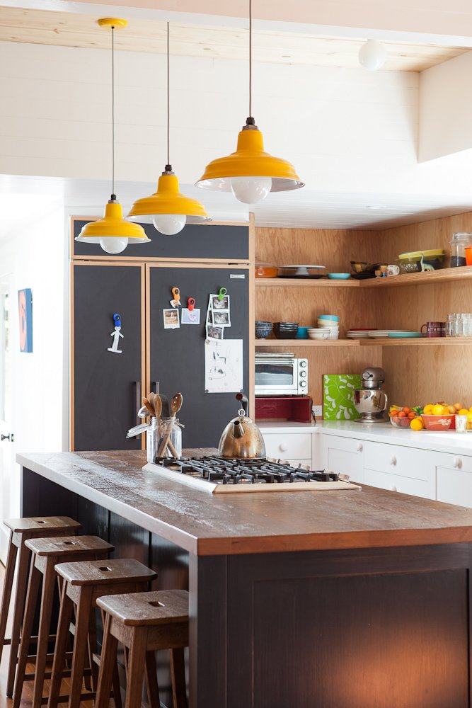 #EagleRockHouse #renovated #updated #private #residence #color #kitchen #island #lighting #2013 #EagleRock #California #BarbaraBestor  60+ Modern Lighting Solutions by Dwell from Eagle Rock House
