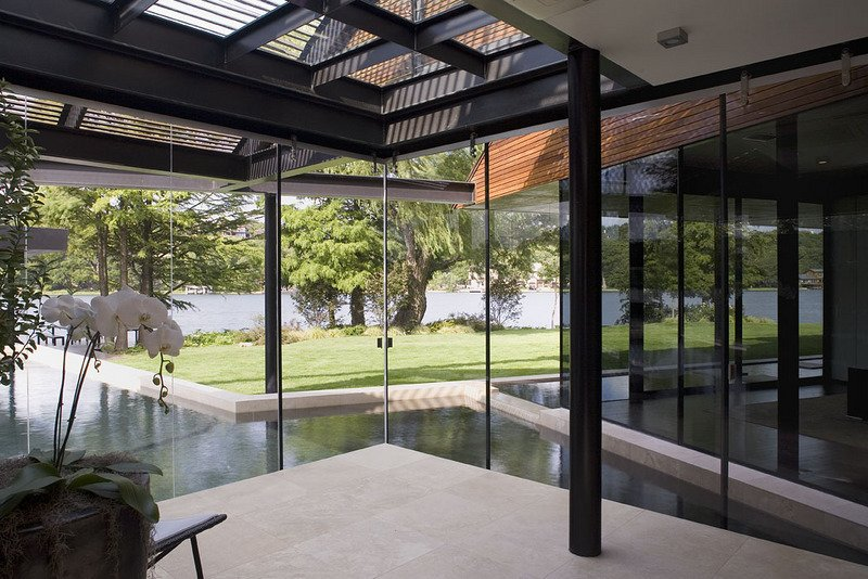 #PeninsulaResidence #lakeside #glass #steel #materials #modern #windows #lighting #outdoor #structure #interior #inside #indoors #LakeAustin #BercyChenStudio  The Peninsula Residence