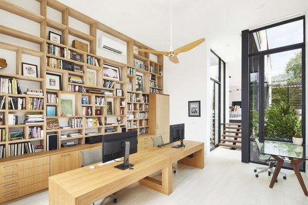 Sunken double height office