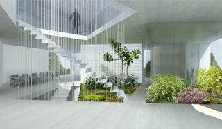 #Ossining #structure #form #modern #interior #inside #indoors #staircase #indooroutdoorliving #lighting #naturallight #materials #midcentury #BernheimerArchitecture