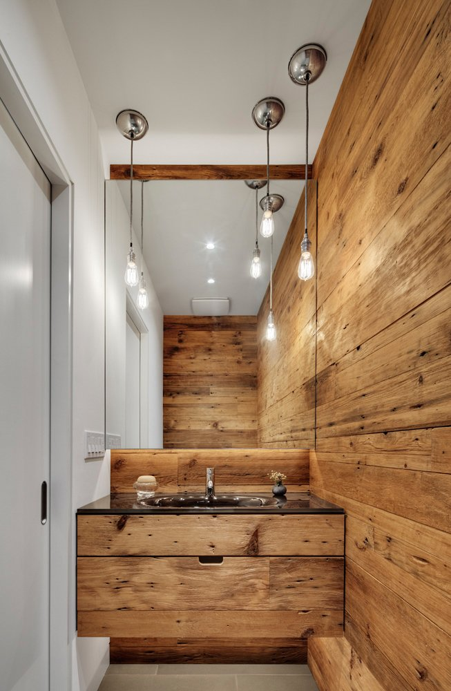 #2039Dickens #structure #form #modern #midcentury #sidelot #addition #interior #inside #indoors #wood #sink #lighting #smallspace #2009 #BlenderArchitecture  60+ Modern Lighting Solutions by Dwell from 2039 Dickens