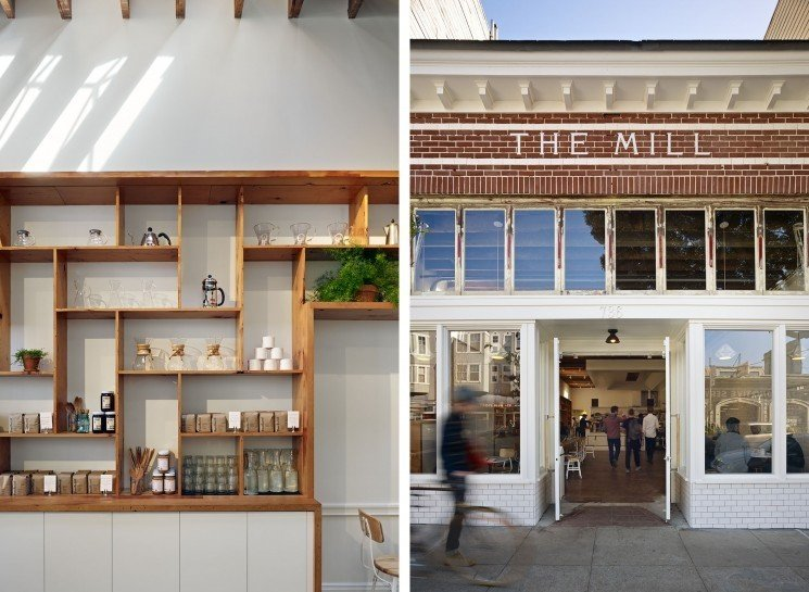 #TheMill #modern #dining #cafe #collaborative #bright #warm #wood #palette #welcoming #exterior #outside #outdoors #facade #entryway #windows #lighting #2013 #SanFrancisco #BoorBridgesArchitecture  The Mill