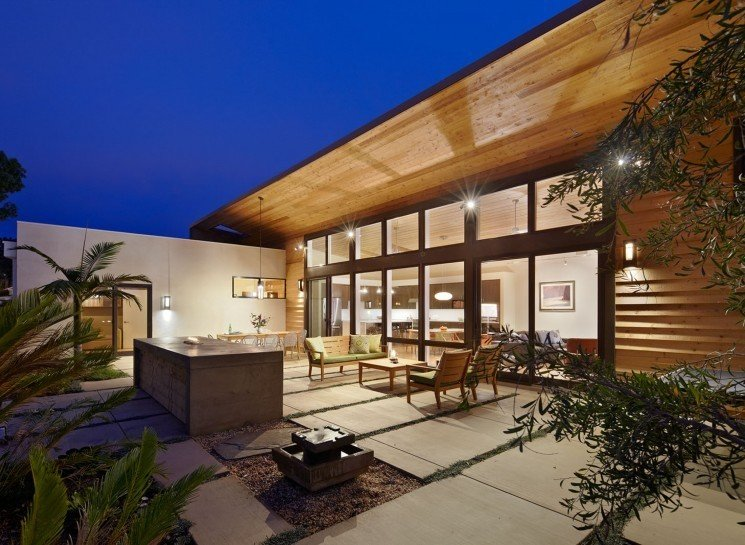 #TurtleRockHouse #modern #structure #residence #exterior #outside #outdoors #seating #deck #windows #lighting #patio #Irvine #2011 #BoorBridgesArchitecture  Turtle Rock House