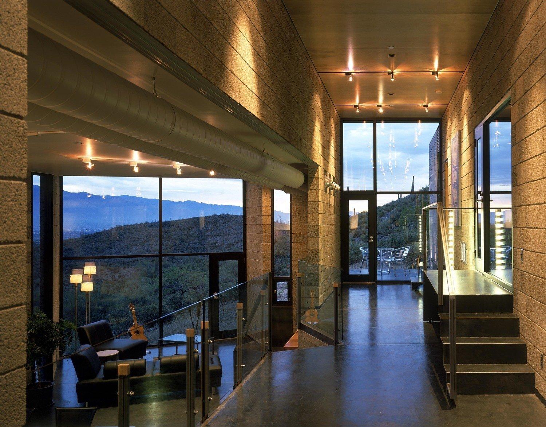 #modern #garciaresidence #ibarrarosanodesignarchitects #architecture #interiordesign #arizona #seatingdesign #livingarea #openfloor #glass #glassdoor #stairs  Garcia Residence