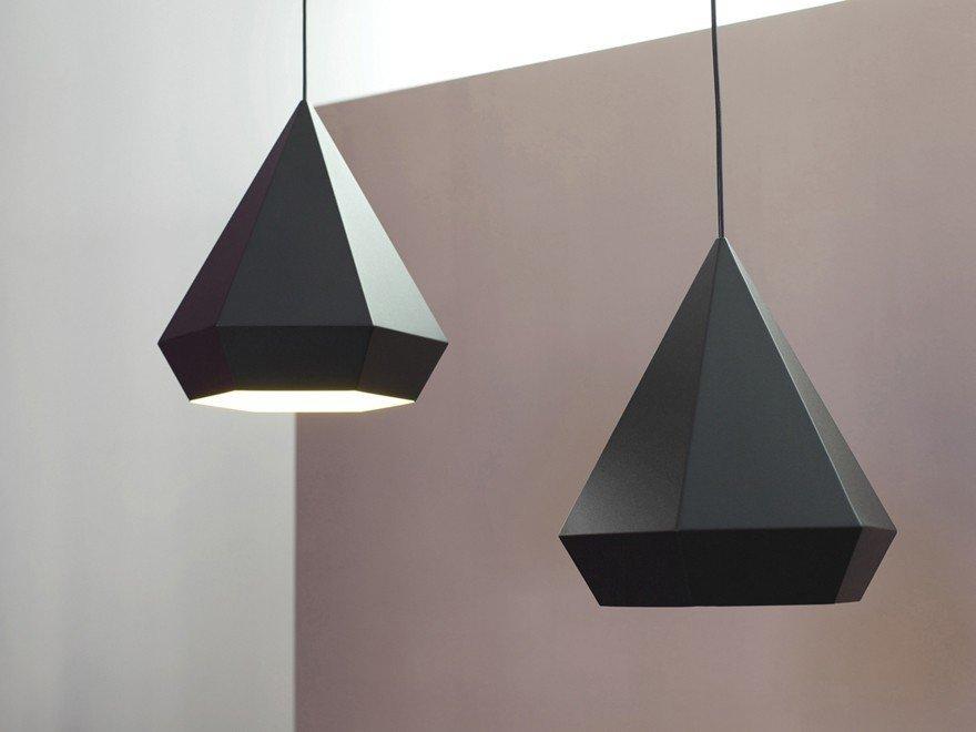 #sebastianscherer  #lightingdesign #lighting #lamp #hanginglight #geometric #interior #color #diamond #pendantlight   60+ Modern Lighting Solutions by Dwell