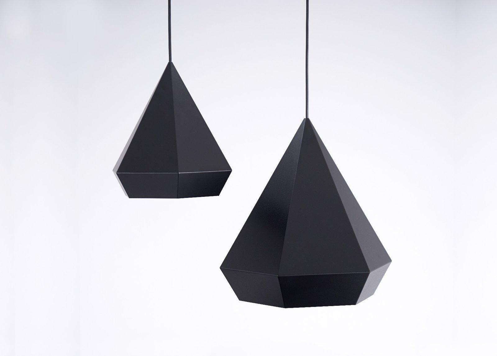 #sebastianscherer  #lightingdesign #lighting #lamp #hanginglight #geometric #interior #color #diamond #pendantlight   60+ Modern Lighting Solutions by Dwell from Diamond Light