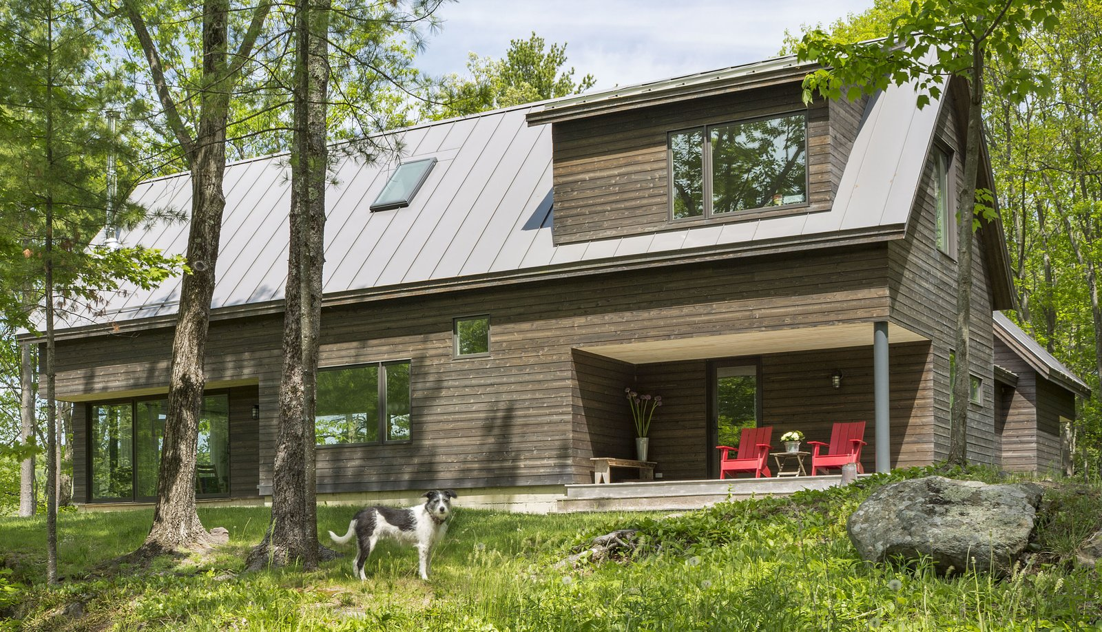 Outdoor, Grass, and Trees Architect Elizabeth Herrmann's Knoll House project, Best Transitional category winner of 2017 Marvin Architects Challenge.    Knoll House