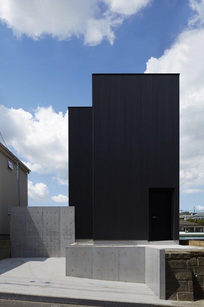 Front facade  Black Box House