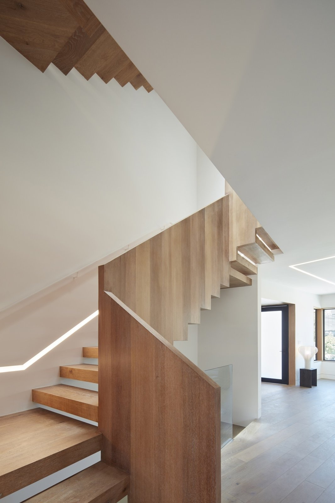Staircase, Wood Tread, and Wood Railing Staircase  Noe Valley House