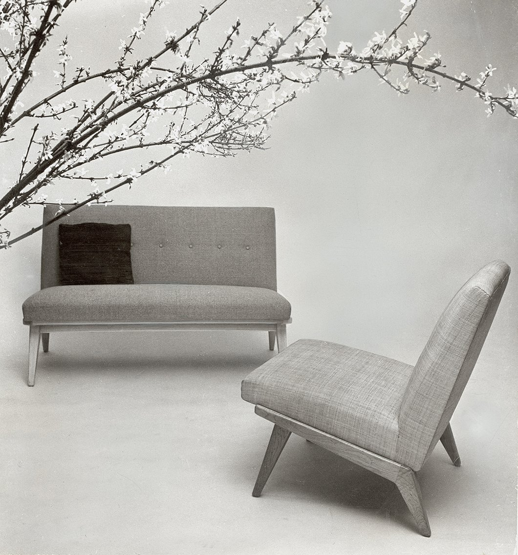 Jens Risom's early designs for Knoll, c. 1940s. Image from the Knoll Archive.  Photo 8 of 9 in Knoll Inspiration:  In Conversation with  Helen Risom