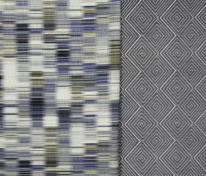 Aswan and Meroe upholstery from The Adjaye Collection for KnollTextiles. Photography by KnollTextiles.  Photo 6 of 7 in Knoll Inspiration: In Conversation with David Adjaye